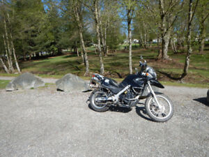 2010 G650GS BMW motorcycle, lady ridden