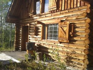 Cozy Log Cabin on 5 acres near Provincial Park