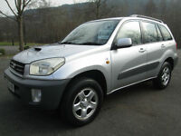 02/52 TOYOTA RAV4 2.0 D-4D IN MET SILVER WITH ONLY 79,000 MILES