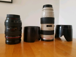 Canon 24-70 f2.8 v1 and Canon 70-200 NON IS 2.8 v1