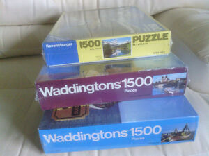 Three 1500 Piece Jigsaw Puzzles Still in Shrink Wrap North Shore Greater Vancouver Area image 1