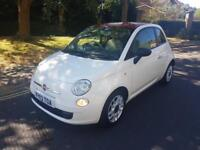 2013 Fiat 500 1.2 POP Start Stop 3 Dr Manual White RED ROOF 28,000 Miles 2 Keys