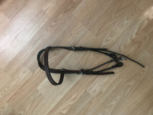 Brown leather headstall