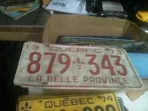 Vintage Quebec Licence plates for sale West Island Greater Montréal image 3