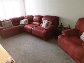 5 seater recliner corner sofa and chair. HARVEYS GUVNOR