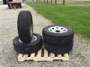 Set of 4 winter truck tires on rims