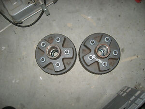 NEW PAIR OF TRAILER WHEEL BRAKE HUBS