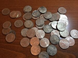 Lot of Canadian coins/paper money $157.50 ripped dollar is free Peterborough Peterborough Area image 7
