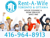 #1 HOUSE CLEANING SERVICE IN TORONTO SINCE 1980 | RENT-A-WIFE
