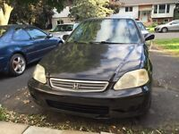 2000 Black Honda Civic - Quick Sale