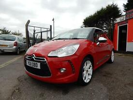 2011 Citroen DS3 1.6 THP 16V DSport 3dr 1 former keeper,2 keys,full service h...