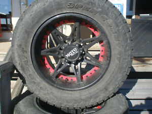 Ford 8 bolt 20 inch Rims and tires