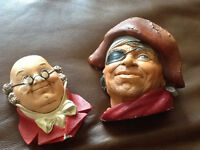 2 bossons heads made in england