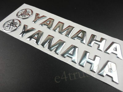 Silver Fairing Tank Emblem Decals For Yamaha Stickers Motorcycles Badge Custom for sale  Shipping to South Africa