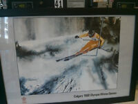 Collectible `Calgary1988 olympic winter game` poster
