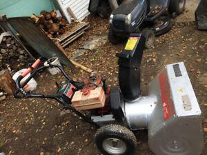 8 horsepower craftsman snow blower for sale  good condition work