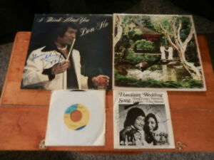 Vinyl LP/Records Autographed Don Ho & Teddy & Nanci Lot