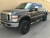 2008 FORD F-350 CREW CAB LARIAT POWERSTROKE DIESEL !! LIFTED !!
