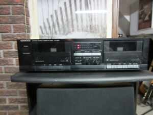 Kenwood Stereo Double Cassette Deck for sale.