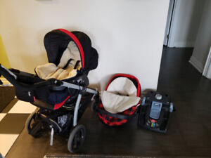 Peg Perego Stroller+Car Seat- Gently Used- Freebies included!