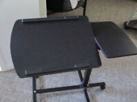 Adjustable Laptop Cart, Black - Like Brand New      Watch     |