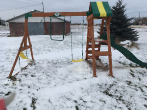 Outdoor slide and swings for sale