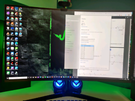 "Samsung 32"" Wide Quad HD 144Hz Curved Gaming Monitor"