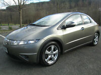 06/06 HONDA CIVIC SE 2.2 I-CDTI 5DR HATCH IN MET GREY WITH SERVICE HISTORY