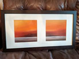 Framed print artwork
