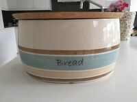 China bread bin and bread board
