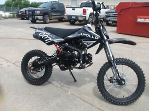 BRAND NEW KIDS DIRT BIKE APOLLO 125cc PERFORMANCE DIRT BIKES