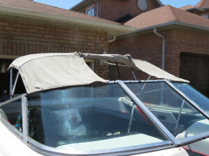 curved glass windshield for bowrider 5 pieces