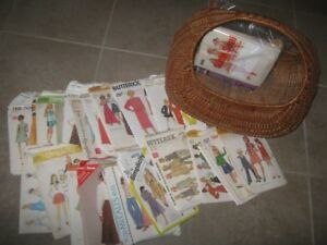 Basket of old Sewing Patterns
