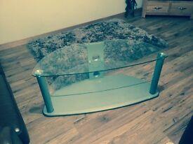Large glass tv unit