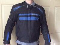 Blue motorbike jacket