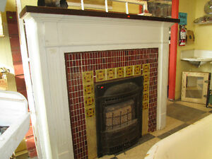 Vintage Fireplace Surround & Natural Gas Insert