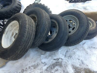 Trailer Tires  14in AND 15IN. 5 ON 4 BOLT PATTERN