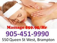 GREAT MASSAGE BEST PRICE $59.95/HR