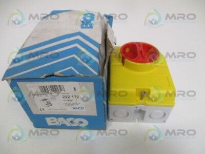 Baco 222172 Disconnect Switch New In Box