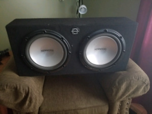 "2 10"" Subwoofers and 1000W amp"