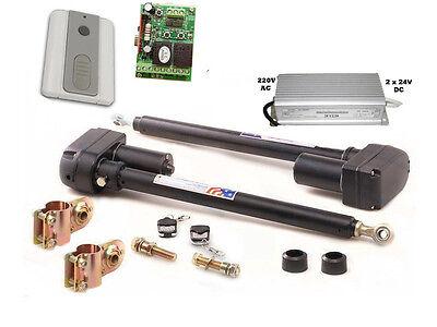 automatisch gesteuerts 2-flügeliges Tor, Trafo, 2 Kanal Controler + Funkschalter