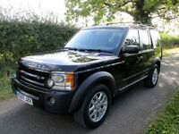 2007 LAND ROVER DISCOVERY 3 2.7 TD V6 XS 7 ST SEATER 4X4 MANUAL BLACK
