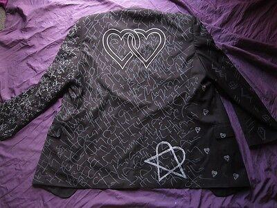 BAM MARGERA HEARTS JACKET M L XL XXL HIM ville valo shirt goth concert wear