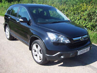 2009 09 Plate Black Honda CR-V 2.2 i-CTDi SE , Only 76,000 Miles With Fsh