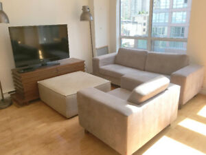 BIG SOFA with MATCHING ARM CHAIR - $50 FOR BOTH OR BEST OFFER