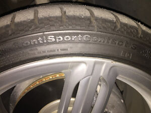 Selling a set of 19 inch Continental ContiSportContact 3 tires