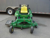 John Deere zero turn riding lawn mower