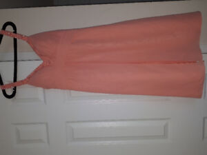 Two brand new coral bridesmaid dresses