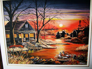 REDUCED !!!Beautiful Sunset Oil Painting Stratford Kitchener Area image 3
