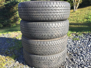 Four Firestone P195/65R15 Winter Tires Good Tread